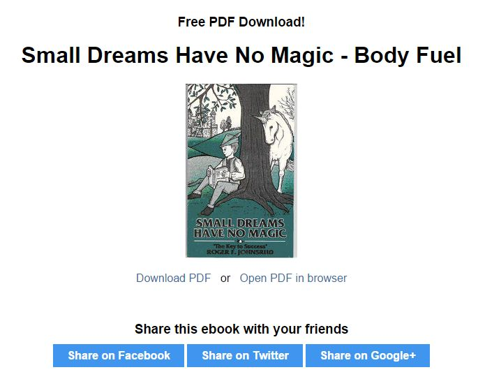 Small Dreams Have No Magic Cover